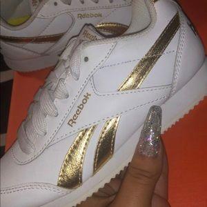 Original Reebok 13c 13 white gold shoes